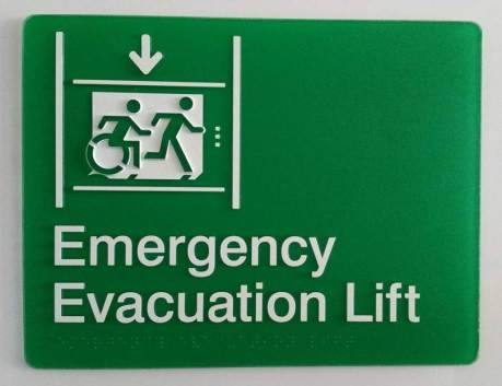Emergency Evacuation Lift, in green, with Braille and Tactile characters, and accessible means of egress icon wheelchair symbol-min.jpg