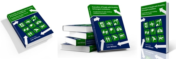 Evacuation Guide for People with Disability Book Cover in 3D view