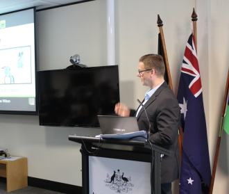 Lee Wilson presenting to Australian Network on Disability and various organisation in February 2016
