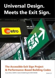 Universal Design Meets the Exit Sign Cover Artwork